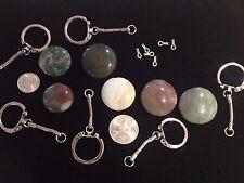 12 Glass Gemstone Key Chain Kits