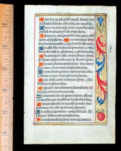 FRENCH ILLUMINATED  BOOK OF HOURS  LEAF, ON VELLUM - GOLD BORDER, PARIS c 1532
