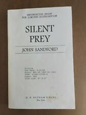 """""""Silent Prey""""  1992 Rare Uncorrected Proof by John Sanford"""