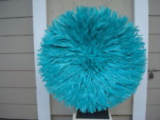 "30"" Turquoise  / African Feather Headdress / Juju Hat / 1st. Quality"