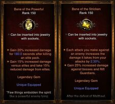 Diablo 3 PS4 All 22 Legendary Gems Bundle For Softcore (Legit and Unmodded)