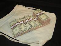Prop Novelty Money Filler Packs 10 x $5K Solid Blocks.Legal Single Sided