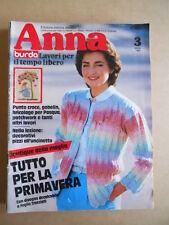 ANNA Burda n°3 1983 con cartamodelli  [C60]