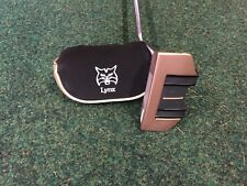 Lynx Boom Boom 34 inch Gold Mallet Right Hand Putter + Matching Head Cover B/N