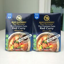( Pack of 2) Blue Elephant Thai Premium Paste Red Curry  70  g