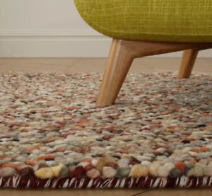 John Lewis JELLYBEAN Jelly Beans 100% Wool RUG 150 x 90 cm Russet NEW