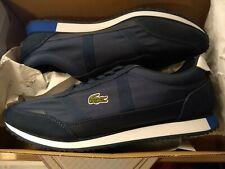 BNIB Men's Lacoste Partner running shoe trainer navy blue & white uk11 EU45 £80
