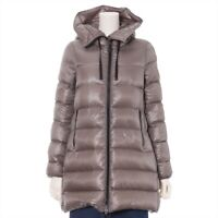 Moncler SUYEN Nylon Down Coat 0 Ladies Brown