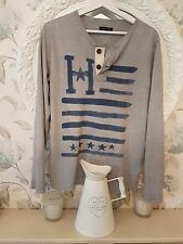 Tommy Hilfiger Older Boys Men 176cm LONG SLEEVE T in grey lovely and soft