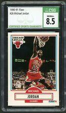 1990-91 Fleer #26 Michael Jordan Graded CSG 8.5 NM-MT+ ~ Chicago Bulls HOF