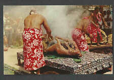 Ca 1948 PPC* HAWAII LUAU PIG BEING PREPARED FOR BBQ SPIT MINT