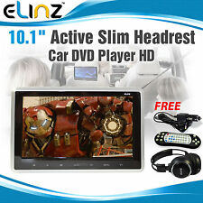 10.1 inch Slim Active Car headrest DVD Player HD Digital TFT Screen HDMI Game 9""