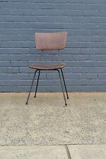 Vintage Mid century kitchen chair brown tubular steel 50s