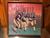 Pittsburgh Steelers Vintage 1979 NFL Wall HangingClock SteelMill Background Wood