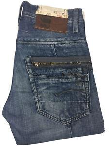 G-Star Raw Denim Men's Jeans Sz W28 L30 3301 Plus Sudden Straight