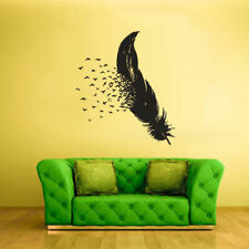 Wall Vinyl Sticker Feather Decal Birds (Z2128)