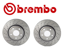 For Mercedes C117 X117 W246 Pair Set of 2 Front Brake Disc Rotors Drilled Brembo