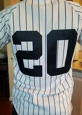Majestic New York Yankees MLB Jersey Youth Large #20 Pinstripes Sewn Kids
