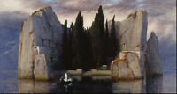 """Stunning Oil painting seascape Xanadu Ancient castle on the ocean no framed 36"""""""