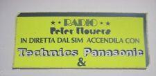 ADESIVO RADIO / Sticker _ RADIO PETER FLOWERS Technics Panasonic (cm 14 x 6)