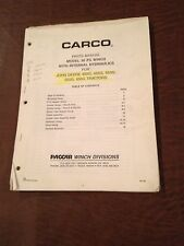 CARCO WINCH PACCAR PARTS MANUAL MODEL 30 PS  650 555 550 450