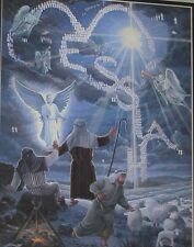 "MESSIAH Proclaim Birth of Jesus 8""x10"" Matted Print Christmas Artwork Luke 2:13"
