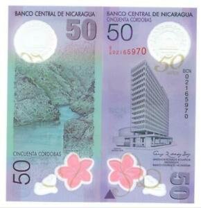 Nicaragua 2010 Commemorative Polymer Banknote 50 Cordobas UNC