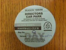 23/02/1999 Ticket: Luton Town v Notts County [Directors Car Park] . Bobfrankande