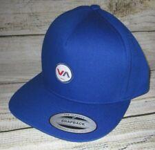 2646301e MENS RVCA ROYAL BLUE SNAPBACK ADJUSTABLE HAT CAP ONE SIZE