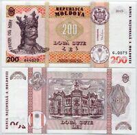 MOLDOVA 200 LEVA 2013 P 19 COMMEMORATIVE ISSUE IN FOLDER UNC W//FOLDER