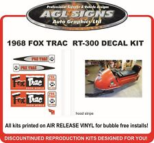 1968 FOX TRAC RT-300 DECAL KIT , REPRODUCTIONS stickers graphics