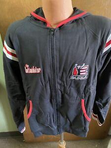 "Dale Earnhardt Sr. Nascar ""THE INTIMIDATOR"" Ladies Zip Up Jacket W/Hood XL"