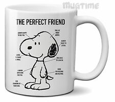 Peanuts - Snoopy - Perfect Friend - Coffee Tea Mug Cup - Ceramic - Gift - 330ml