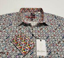 Robert Graham Men's 2XL Anemone Multicolor Geometric Flip Cuff Shirt NWT