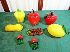 8pc Beautiful & Colorful Glass Fruits & Vegetables