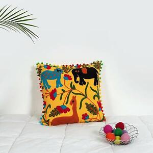 Cotton Square Throw Cushion Cover Mandala Suzani Embroidered Pillow Cases