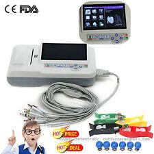 numérique 6 canaux ECG 12 dérivations/ECG Machine+logiciel électrocardiographe
