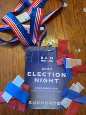 Biden/Harris Official Supporter Credential Badge used 11/03-11/07 Drive in guest