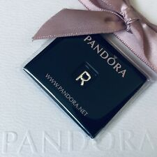 PANDORA Sterling Silver Initial LETTER R Petite Locket Floating Charm NEW 797336