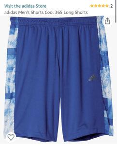Adodas 365 Clima Shorts, Blue, Sample, BNWT, Mens, Sz M,  Deadstock