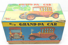 Vintage 1950s Rosko B/O Grand-Pa Car #1440 Tin Litho Battery Operated Made Japan