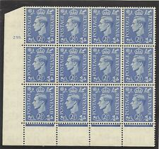 Sg 489f Q14f 2½d Light Ultramarine with 'b for d in value' variety Mounted Mnt