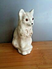 Vintage Cat - Fox Figurine Ornament Glazed Ceramic