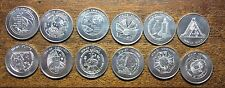 STS 12 pc SPACE SHUTTLE ALUMINUM COIN LOT NASA MFA ISSUED ALL DIFFERENT SEE LIST
