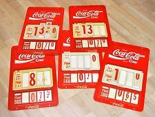 Großes Coca-Cola Coke Meto Preisschild 42 cm Preistafel Werbeschild Schild Tafel