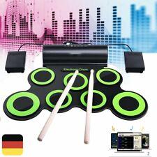 Digital E-Drum Set Elektronisches Schlagzeug Drumkit Rack Fussmaschine USB DHL