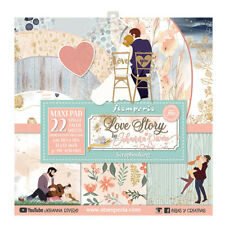 "NEW Stamperia 12"" x  12"" Paper Sheet Maxi Love Story"
