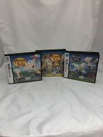 Nintendo DS Lot 3 Phineas & Ferb Games Original + Ride Again + 2D Dimension