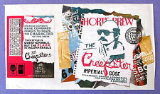 Short's Brew THE CREEPSTER - IMPERIAL GOSE beer label MI 750ml STICKER with Back
