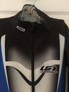 Louis Garneau Elite Cycling-Course Body Skin Suit - Blue, Black - Signed- M